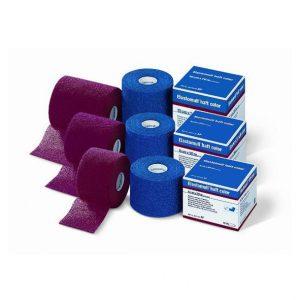 BSN Medical - Elastomul Haft color. Elastomul Haft to elastyczny zwarty bandaż do delikatnego podtrzymywania np. opatrunków i okładów.