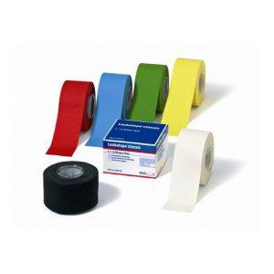 BSN Medical - Leukotape Classic kolor. Sztywna taśma do sportowego tapingu. Wykonana ze 100%, cienkiej bawełny, która łatwo rwie się wzdłuż i wszerz rolki.