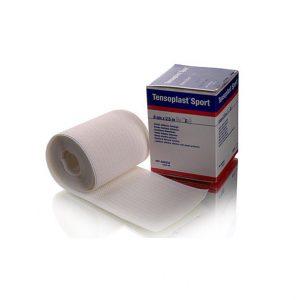 BSN Medical - Tensoplast Sport - z bielą cynkową. Doskonałe zastosowanie w rugby, koszykówce piłce nożnej.