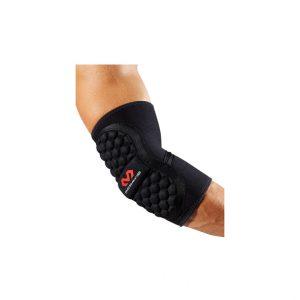 McDavid - Handball Elbow Pad. Zaprojektowany specjalnie pod kątem piłki ręcznej, - Posiada piankę EVA zapewnijącą odporność na uderzenia,