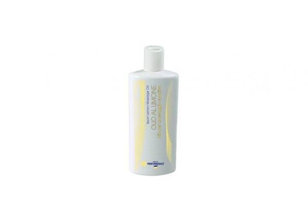 PHYTO PERFORMANCE - Al Limone olejek cytrynowy. Ten neutralny olejek nadaje się do każdego rodzaju masażu, a w szczególności do długich masaży. Dodatek olejku cytrynowego sprawia że AL Limone pozostawia uczucie delikatnego ciepła na skórze. Przyspiesza cyrkulację krwi w mięśniach. Zmniejsza podatność mięśni na skurcze.