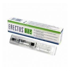 ERECTUS to jedna ampułkostrzykawka, w skład którego wchodzi 1,2% roztwór soli sodowej kwasu hialuronowego oraz: sodu chlorek, sodu diwodorofosforan dwuwodny, disodu fosforan dwunastowodny, woda do wstrzykiwań. ERECTUS jest wiskoelastycznym suplementem płynu maziowego.