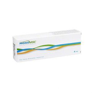 Monovisc 15-25 mg/ml, 4 ml jest unikalnym osiągnięciem w leczeniu choroby zwyrodnieniowej stawów. Twórcy Orthoviscu, opracowali Monovisc specjalnie do podawania jednorazowej iniekcji, zapewniając zwiększoną trwałość w sposób bezpieczny i łatwy w użyciu (jeden zastrzyk).