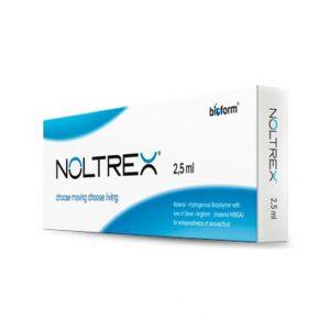 NOLTREX to sztuczna, płynna endoproteza. Preparat stosowany w leczeniu zapaleń i zwyrodnień stawów. Zawiera trójwymiarowy poliakrylamid oraz jony srebra.