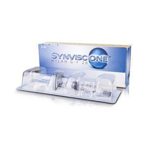 Synvisc One 48mg/6ml (hylan G-F 20) jest sterylną, apirogenną, elastyczno-lepką cieczą zawierającą hylany. Hylany to pochodne hialuronianu (soli sodowej kwasu hialuronowego), które zawierają powtarzające się jednostki dwusacharydowe N-acetylo-glukozaminy i glukoronianu sodu.