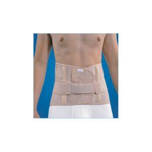 Mediroyal-Niska sznurówka tułowia. Orteza zawiera cztery elastyczne usztywnienia i dwie stalki, które mogą być profilowane w zależności od indywidualnych potrzeb pacjenta.