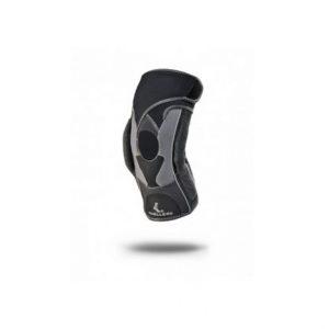 Mueller-Orteza kolana z regulowanymi zawiasami HG80 Z regulacja kąta zgięcia. Wewnętrzny rękaw to dopasowany kształt klepsydry i ekskluzywny materiał pochłaniający wilgoć.