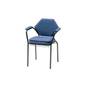 Thuasne krzesło toaletowe Classic. Wygodne krzesło toaletowe z wyprofilowanym, wykończonym tapicerką oparciem.