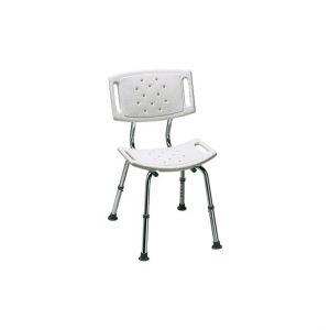 Thuasne krzesło prysznicowe posiada stabilną ramę wykonaną z aluminium ( nie rdzewiejąca ).