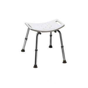 Thuasne stołek pod prysznic posiada zaokrąglony kształt siedziska oraz antypoślizgową powierzchnię, która zapewnia użytkownikowi stabilną pozycję.