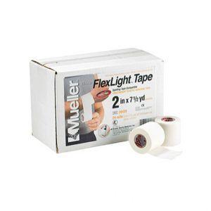 Mueller-flex light tape. Lekka elastyczna taśma, bardzo mocny klej. Bardzo łatwa w oddzielaniu, można aplikować bezpośrednio na skórę. Nie zawiera lateksu. Może być używany do podtrzymywania okładów zimno/ciepłych.