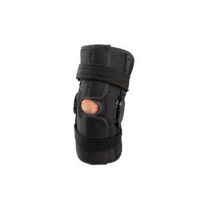 Zawiasowy breg-stabilizator kolana shortrunner. Wykonany z materiału Airmesh (oddychający, lekki).