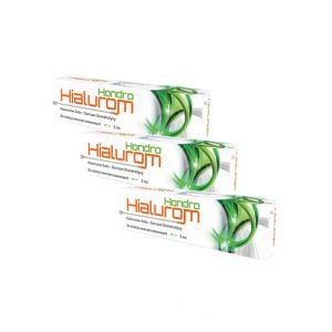 Hialurom Hondro 3ml to preparat do iniekcji wewnątrz stawowych zawierający dwie substancje czynne – kwas hialuronowy oraz siarczan chondroityny, które przyczyniają się do poprawy ruchomości stawów.