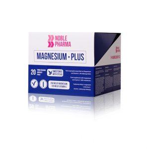 Magnesium Plus jest suplementem diety. Jedna porcja (25 ml) produktu zawiera 250 mg magnezu w postaci mleczanu i cytrynianu oraz 125 mg witaminy C w postaci kwasu L-askorbinowego. O smaku malinowym.