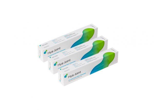 HYA-JOINT to wysoce oczyszczony kwas hialuronowy o zwiększonej dawce 25 mg hialuronianu sodu do stosowania w chorobie zwyrodnieniowej stawów. Produkt ma formę wygodnej do zastosowania strzykawki do aplikacji gotowego roztworu.