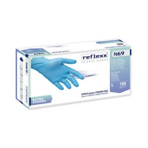 Rękawice bezpudrowe nitrylowe reflexx n69 - gr. 6,8