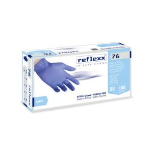 Rękawice bez pudrowe nitrylowe Reflexx 76