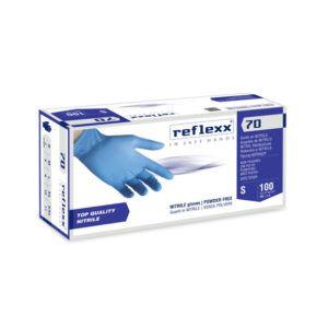 Rękawice bez pudrowe nitrylowe Reflexx 70