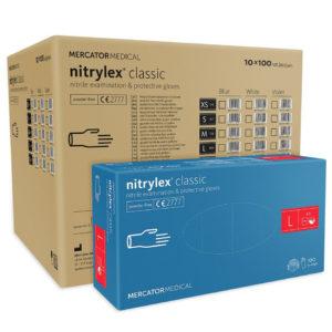Rękawice nitrylowe nitrylex classic blue m