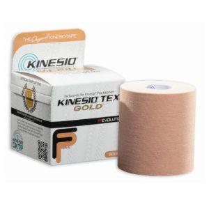 Kinesio Tex Gold – 7,5cm x 5m pasuje idealnie do większych pacjentów oraz miejsc jak plecy, uda oraz mięsień czworo głowy. Kinesio tape o szerokości 7,5 cm jest idealny do użytku na pacjentach profesjonalnie uprawiających sport.